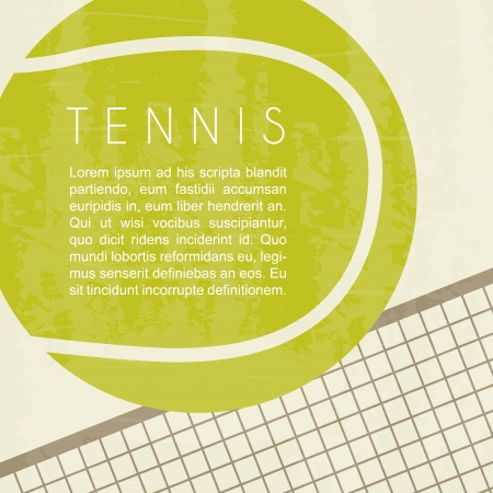 tennis design over white background vector illustration  Ilustração