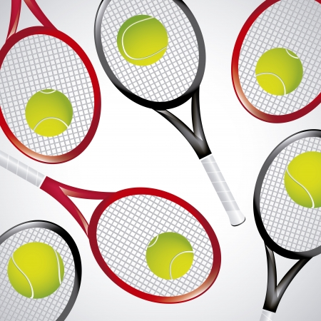 tennis rackets over white background vector illustration  Stock Vector - 19916641