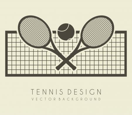 tennis: conception net sur fond blanc illustration vectorielle Illustration