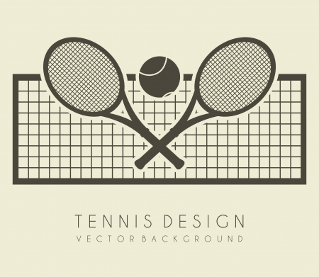 tenis: dise�o de red sobre fondo blanco ilustraci�n vectorial