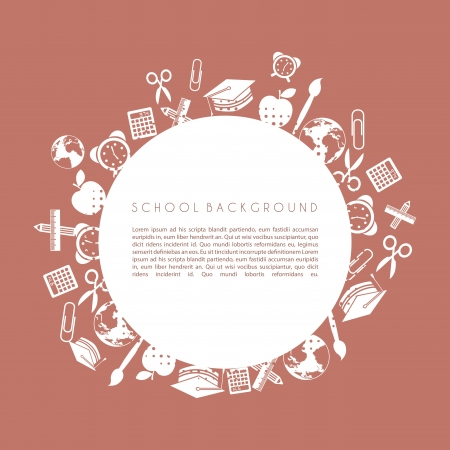 school design over brown background vector illustration  Vector