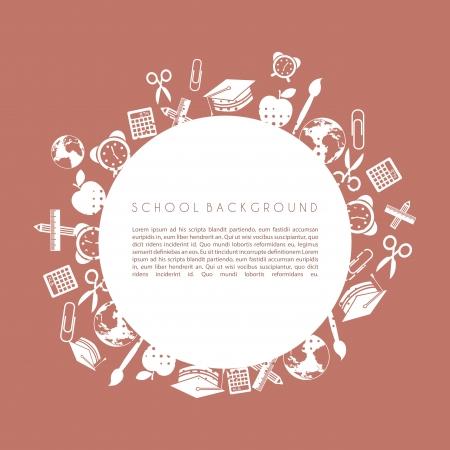 school design over brown background vector illustration  Vector