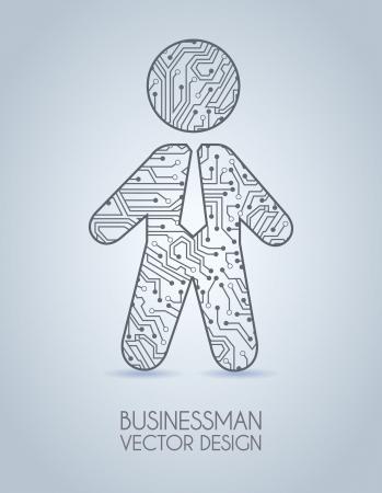 businessman design over blue background vector illustration Stock Vector - 19916622