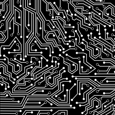 main idea: circuit board over black background vector illustration