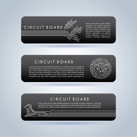 circuit board infographic over gray background vector illustration Vector