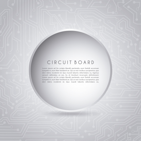circular circuit over gray background vector illustration  Vector