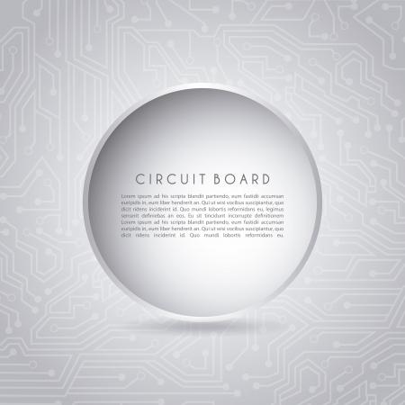 circular circuit over gray background vector illustration Stock Vector - 19980595