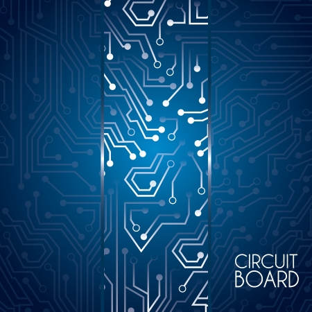 Circuit Board Design Over Blue Background Vector Illustration ...