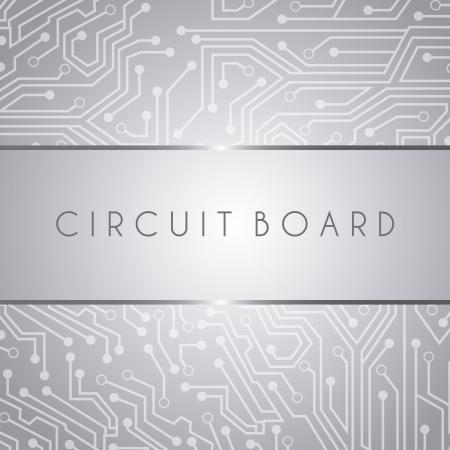 diseño de la tarjeta de circuitos sobre fondo gris ilustración vectorial
