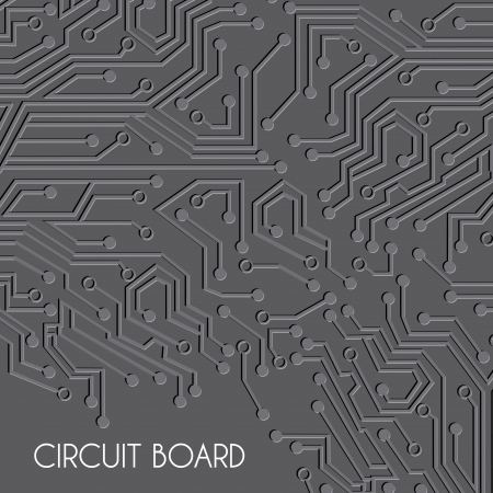 balck: circuit board design over balck background vector illustration  Illustration
