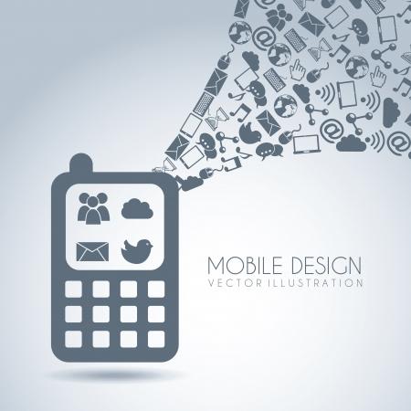 mobile design over blue background vector illustration Stock Vector - 19980688