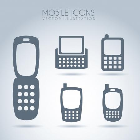 mobile design over gray  background vector illustration  Stock Vector - 19980484