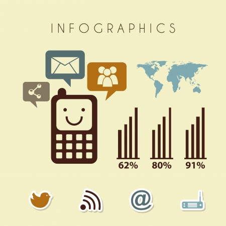 infographics design over cream background vector illustration  Vector