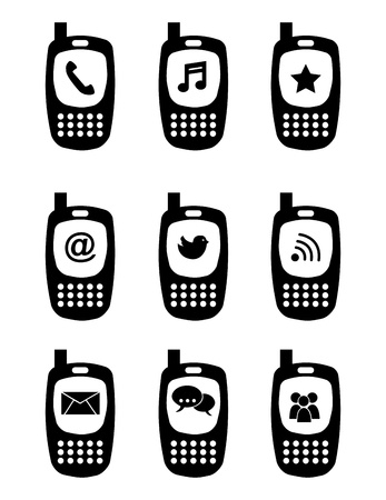 phones icons over white background vector illustration Stock Vector - 19979598