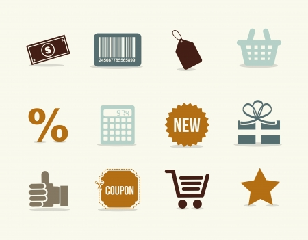 shoping icons over white background vector illustration Vector