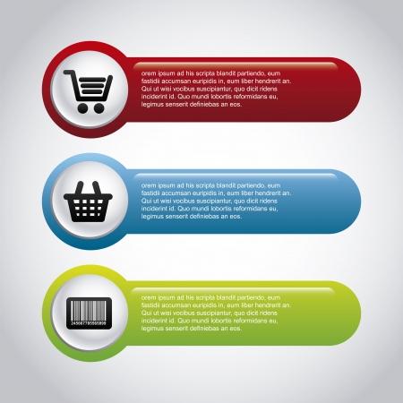 Infografía de compras sobre fondo gris ilustración vectorial Ilustración de vector