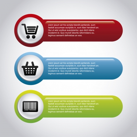 cheap prices: infographics shopping over gray background vector illustration