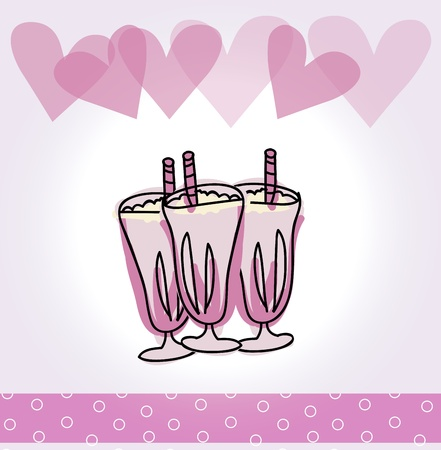 sorbet: birthday sorbet over lilac background vector illustration