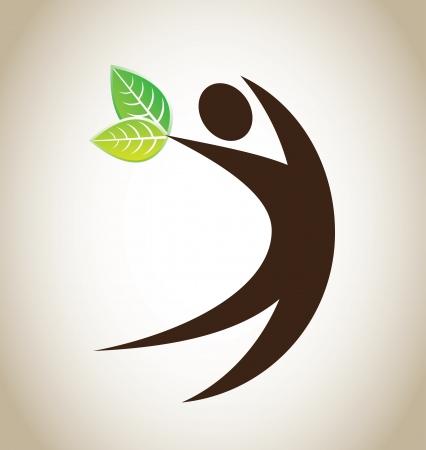 paz mundial: icono ecológico sobre el fondo de bronce