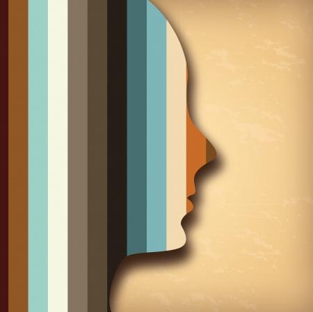 profile design over vintage background  Vector