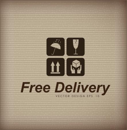 free delivery over vintage background  Vector