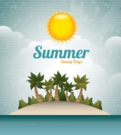 summer sunny day over sky background  Vector