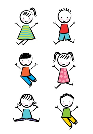 kids icons over white background  Vector