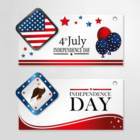 tags liberty over gray background vector illustration  Vector