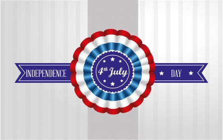 four july over gray background vector illustration Vector