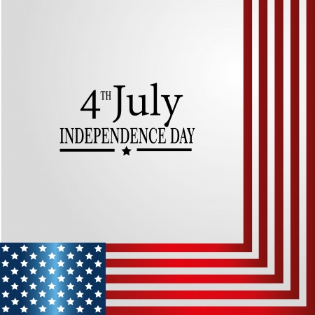 fourth of july: fourth july over gray background vector illustration
