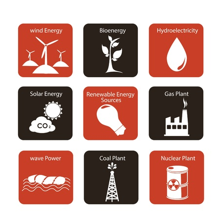 energy icons over white background vector illustration Stock Vector - 20022276