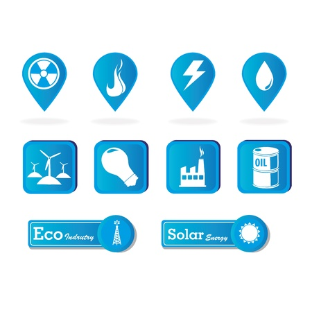 energy icons over white background vector illustration  Vector