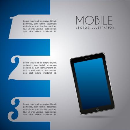 mobile infographics design over gray background vector illustration Stock Vector - 20040882