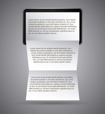 Notepad design over gray background vector illustration  Vector