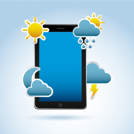 application of climate over blue background vector illustration Stock Vector - 20040870