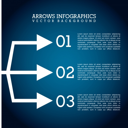 econimics: arrows infographics over blue  background vector illustration