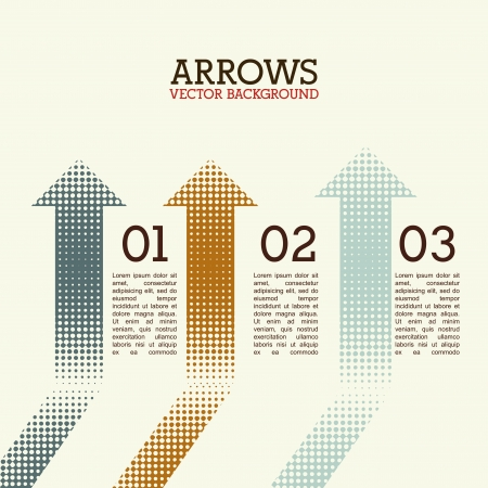 econimics: arrows infographics over white background vector illustration