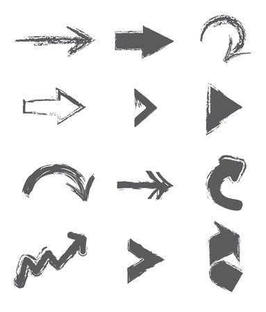 arrows design over white background vector illustration  Vector