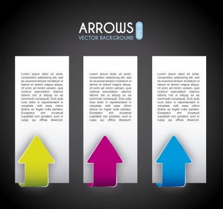 econimics: arrows infographics over black  background vector illustration  Illustration