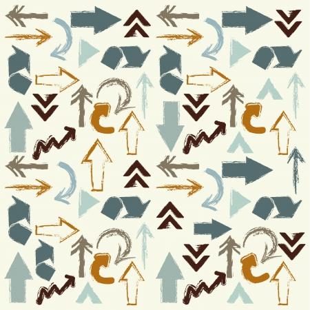 econimics: arrows skin over cream background vector illustration  Illustration
