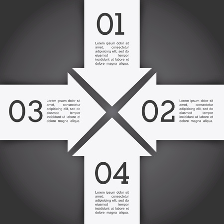 arrows infographics over gray background vector illustration  Vector