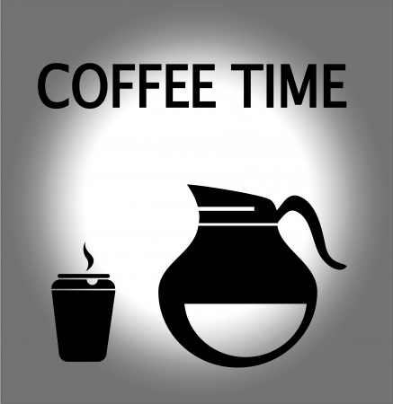 Coffee icon over gray background vector illustration  Vector