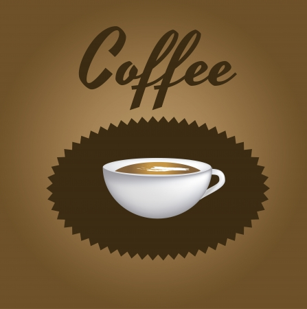 Coffee icon over brown background vector illustration  Vector