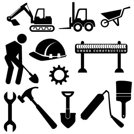 recondition: construction icons  over white background vector illustration