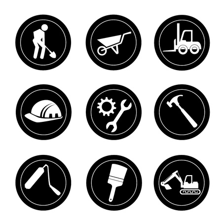 recondition: constructions icons over white background vector illustration