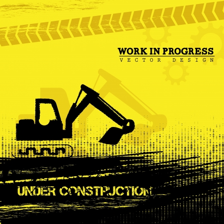 recondition: work in progress over yellow background vector illustration  Illustration