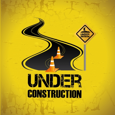 under construction design over yellow background vector illustration  Stock Vector - 20041014