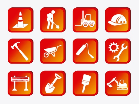 hull: construction icons over white background vector illustration