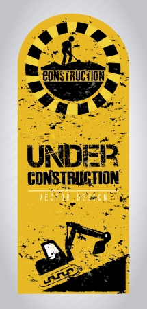 construction frame: under construction frame over gray background vector illustration