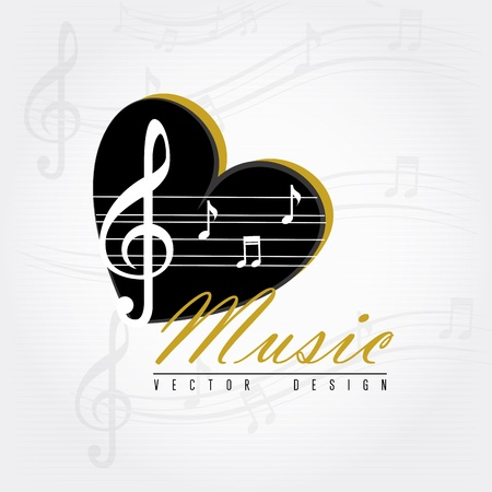 love music over gray background vector illustration Stock Vector - 20040985